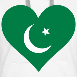 A heart for Pakistan Hoodies & Sweatshirts - Women's Premium Hoodie