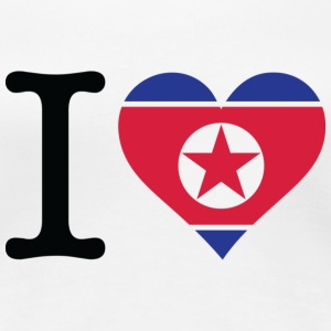 I Love North Korea T-Shirts - Women's Premium T-Shirt