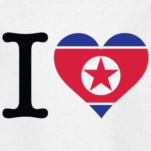 I Love North Korea Shirts - Kids' T-Shirt