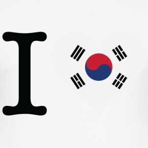 I Love South Korea T-Shirts - Men's Slim Fit T-Shirt