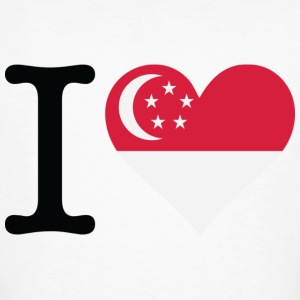 I Love Singapore T-Shirts - Men's Organic T-shirt