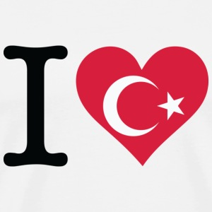 I Love Turkey T-shirts - Herre premium T-shirt