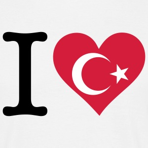 I Love Turkey T-shirts - Herre-T-shirt