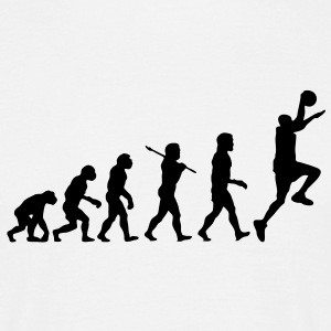 Basketball Jump Evolution - Men's T-Shirt