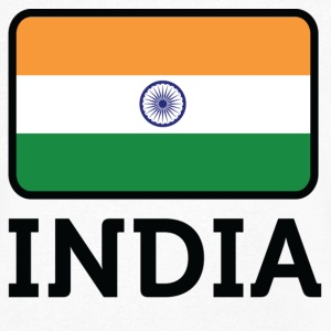 National Flag of India T-skjorter - T-skjorte med V-utsnitt for menn