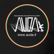 ~ logo AUDA 3d e bandiera (per capi scuri)