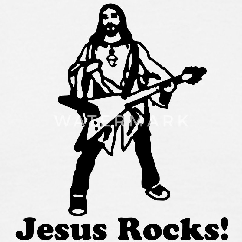 Jesus Rocks - Men's T-Shirt
