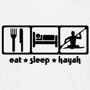 Kayaking - Eat Sleep Kayak - Men's T-Shirt