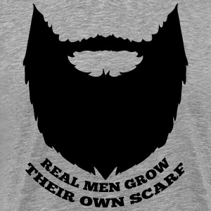 Real men grow their own scarf - Mannen Premium T-shirt