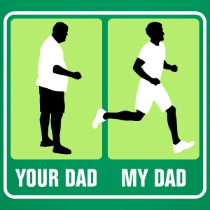 your_dad_my_dad_jogging02_3c T-Shirts - Teenager Premium T-Shirt