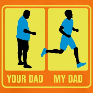 your_dad_my_dad_jogging03_3c T-Shirts - Kinder Premium T-Shirt