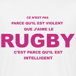 rugby_violent Tee shirts - T-shirt Homme