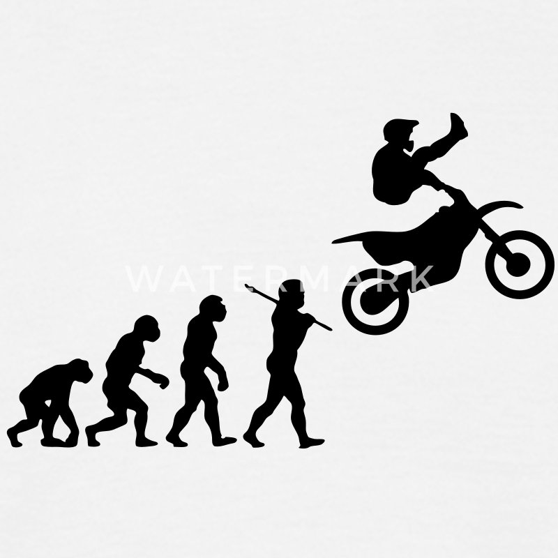 MX Freestyle Motocross Evolution - Men's T-Shirt