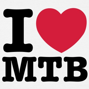 mb06a  i love mtb converted - Men's T-Shirt