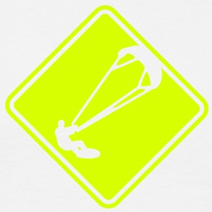 ks04 kitesurf roadsign converted - Men's T-Shirt