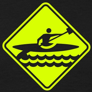 ka04 kayak roadsign converted - Men's T-Shirt
