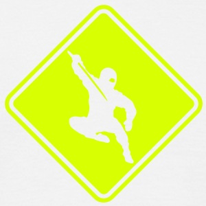 ma04a ninja roadsign converted - Men's T-Shirt