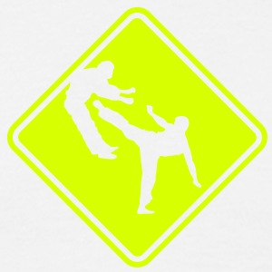 ma04d power kick roadsign converted - Men's T-Shirt