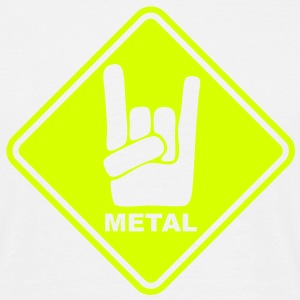 mu08  metal roadsign converted - Men's T-Shirt