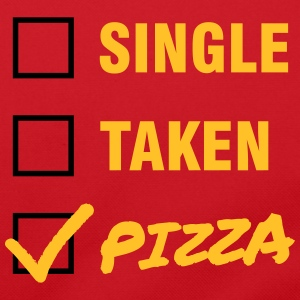 Single / Taken / Pizza - Funny & Cool Statment Bolsas y mochilas - Bolso de bandolera
