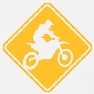 mx04 motocross roadsign converted - Men's T-Shirt