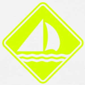 sa04 sailing roadsign converted - Men's T-Shirt