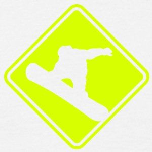 sb04 snowboarder roadsign converted - Men's T-Shirt