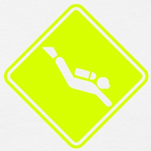 sc04 scuba roadsign converted - Men's T-Shirt