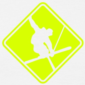 sk04 skier roadsign converted - Men's T-Shirt