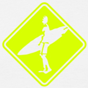 su04 surfer roadsign converted - Men's T-Shirt