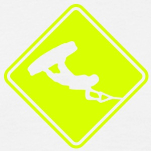 wa04 wakeboard roadsign converted - Men's T-Shirt