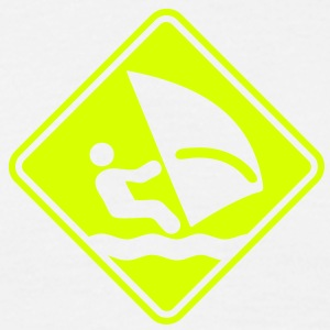 ws04  windsurfer roadsign converted - Men's T-Shirt