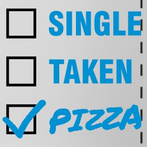 Single / Taken / Pizza - Funny & Cool Statment Mokken & toebehoor - Panoramamok