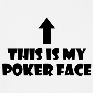 po08 poker face - Men's T-Shirt
