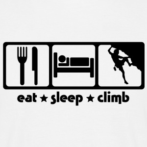 rc02 eat sleep climb - Men's T-Shirt