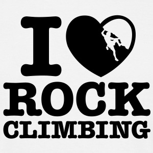 rc06 i love rock climbing - Men's T-Shirt