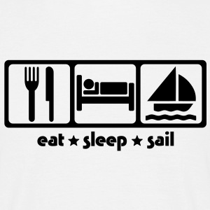 sa02 eat sleep sail - Men's T-Shirt