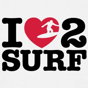 su06 i love 2 surf converted - Men's T-Shirt