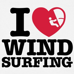 ws06 i love windsurfing converted - Men's T-Shirt
