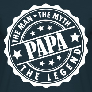Papa-The Man The Myth The Legend T-Shirts - Men's T-Shirt