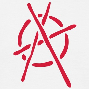 anarchy logo stencil - Men's T-Shirt