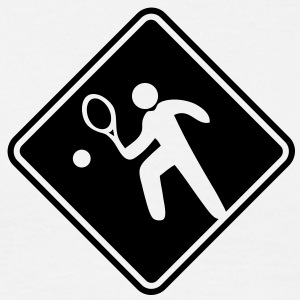 tennis roadsign - Men's T-Shirt