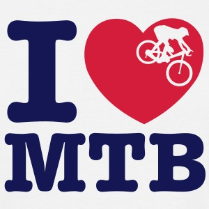 mb06a  i love mtb - Men's T-Shirt