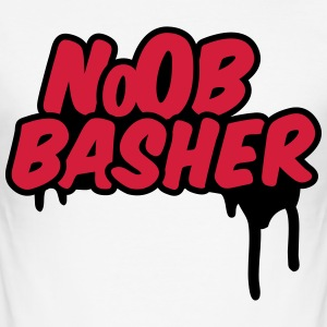 Noob Basher T-Shirts - Männer Slim Fit T-Shirt