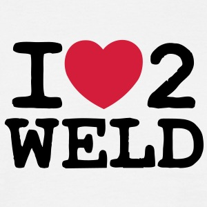 I Love 2 Weld - Men's T-Shirt