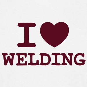 I Love Welding (One Colour) - Men's T-Shirt