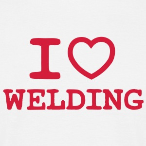 I Love Welding (Outline Heart) - Men's T-Shirt
