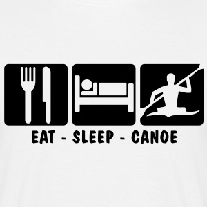EAT SLEEP CANOE - Men's T-Shirt
