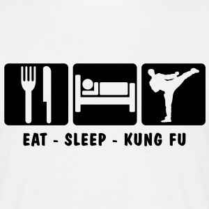 EAT SLEEP KUNG FU 3 - Men's T-Shirt