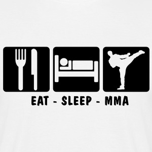 EAT SLEEP MMA 3 - Men's T-Shirt